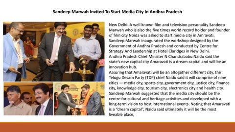 359745e738d Sandeep Marwah Invited To Start Media City In Andhra Pradesh