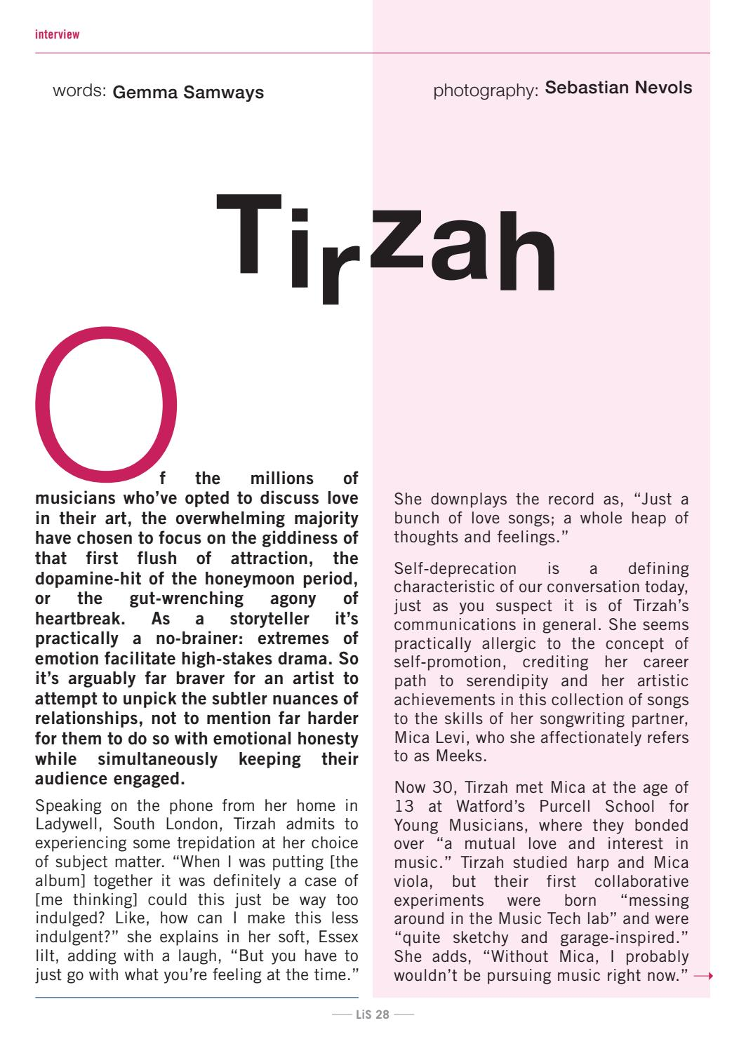 London in Stereo // Tirzah by London In Stereo - issuu