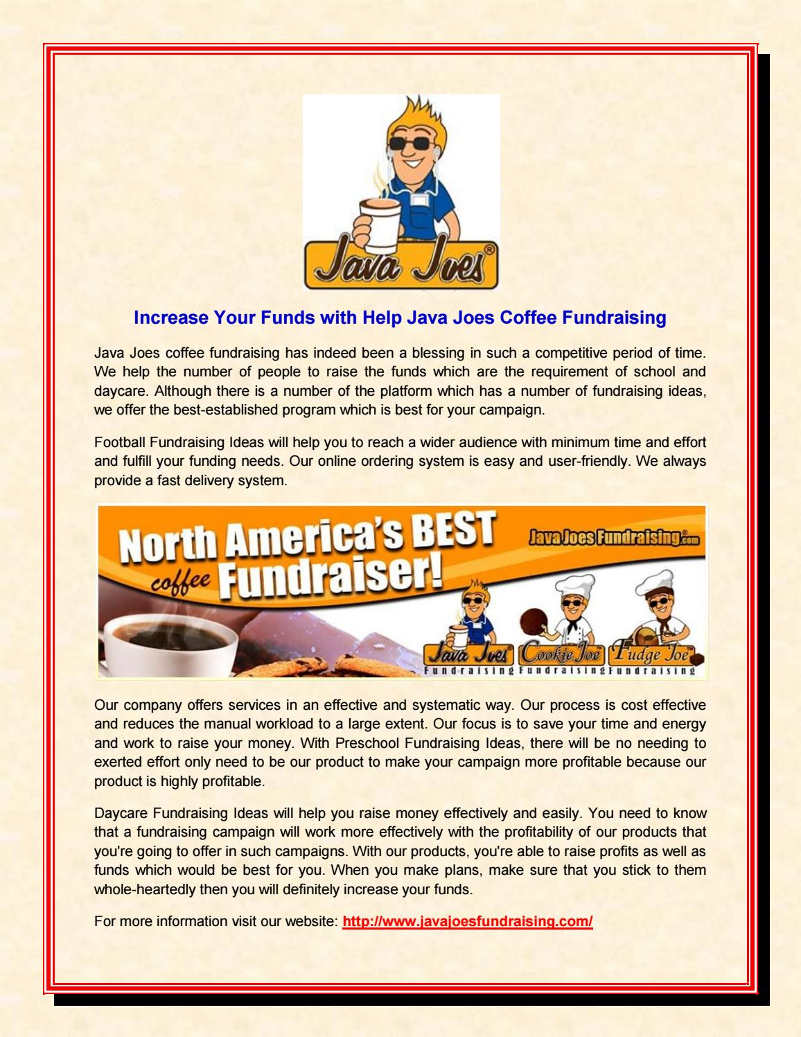 increase your funds with help java joes coffee fundraising by java