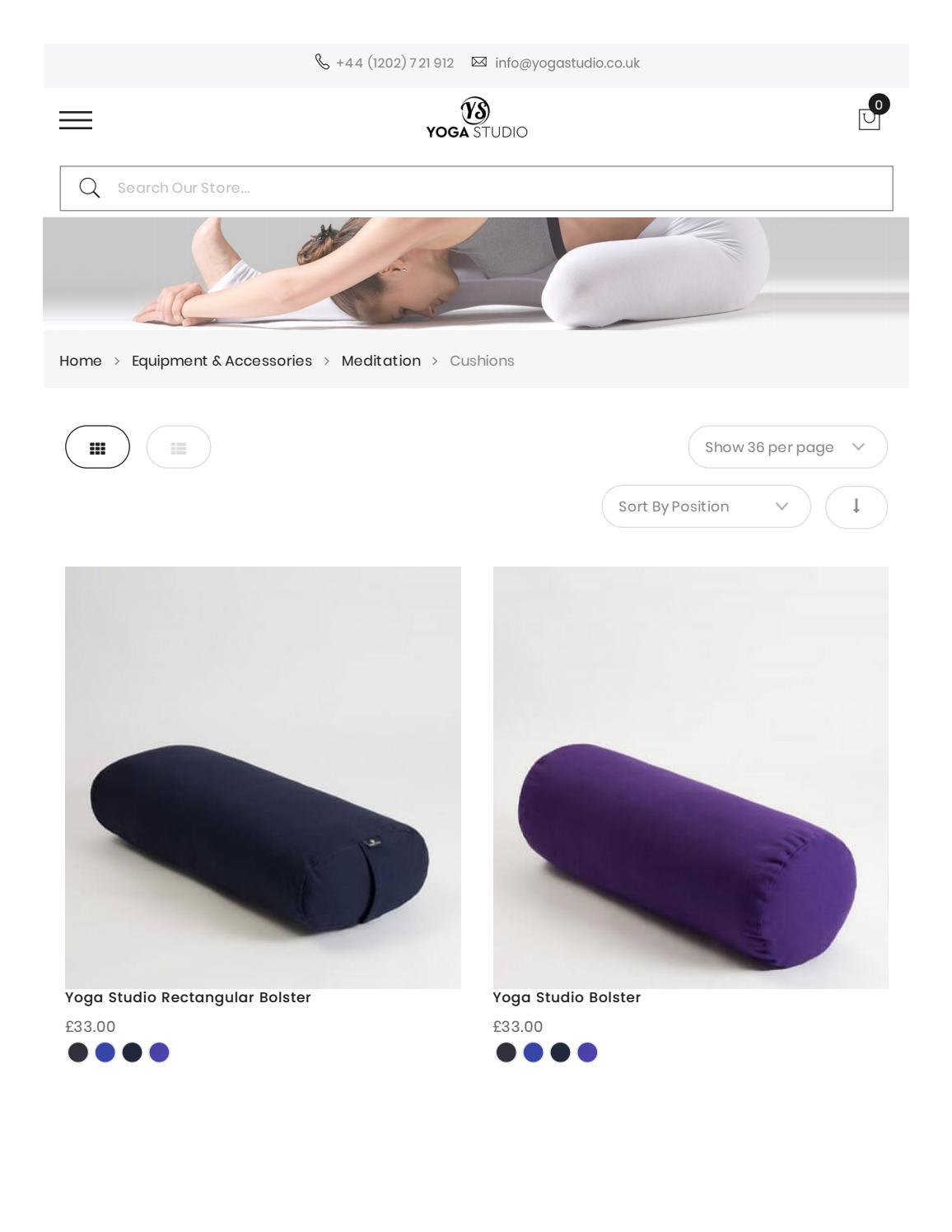 Yoga Studio EU Organic Round Zafu Meditation Cushion