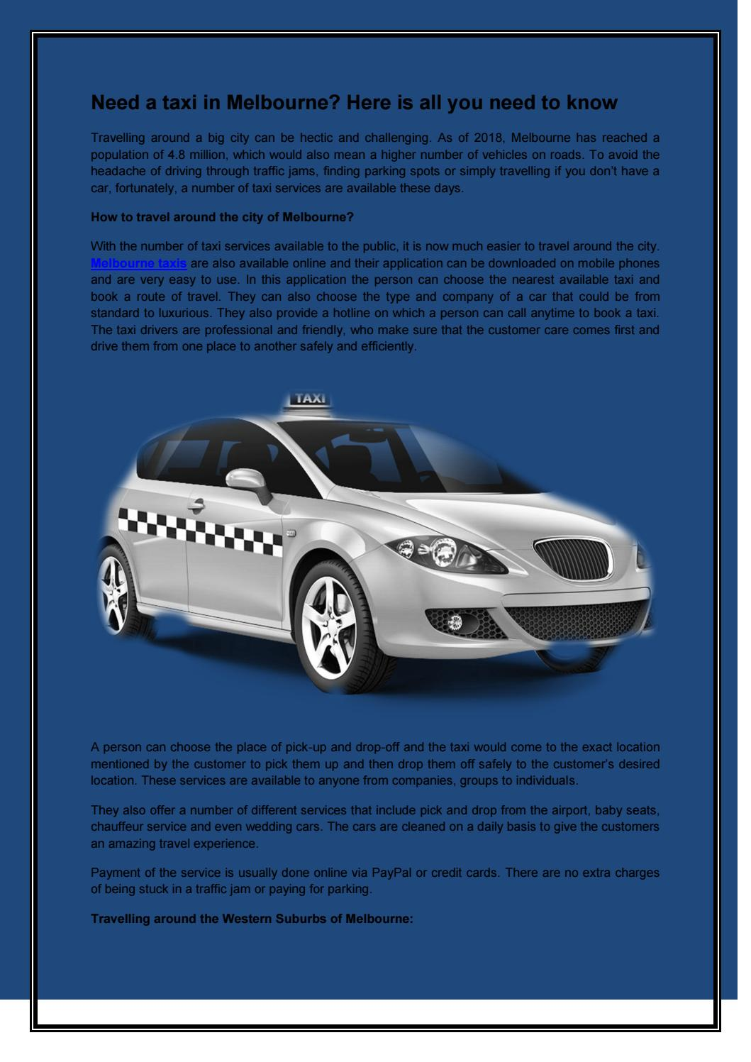Melbourne taxis | west suburban taxis | maxi taxi melbourne by