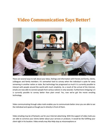 best free video conferencing by Eric Kimbrough - issuu