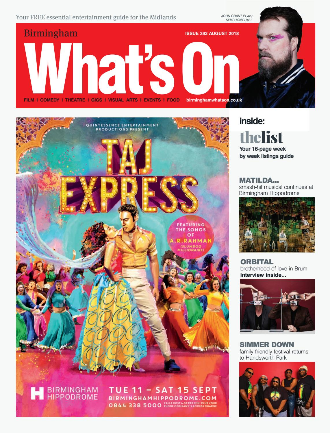 e872131efeb249 Birmingham What's On August 2018 by What's On Magazine for Birmingham,  Warwickshire & Worcestershire - issuu