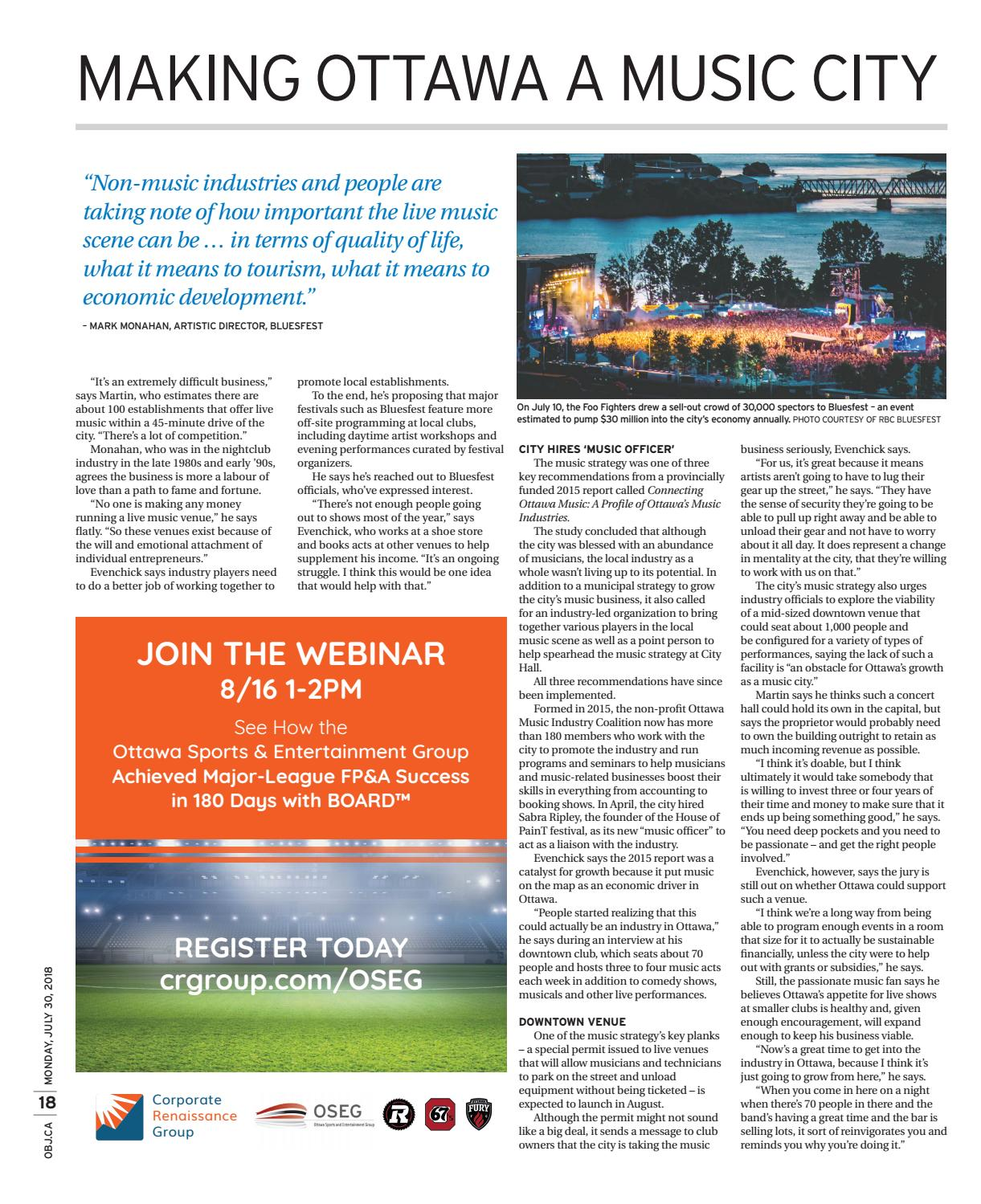 Ottawa Business Journal July 30, 2018 by Great River Media