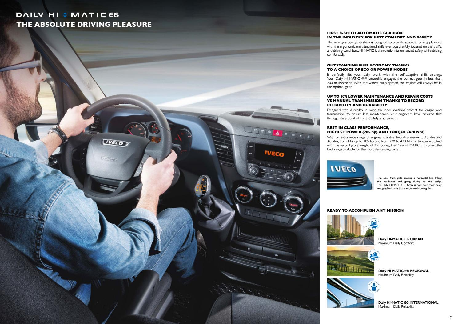 Novo Daily E6 Chassis cabina by Iveco - issuu