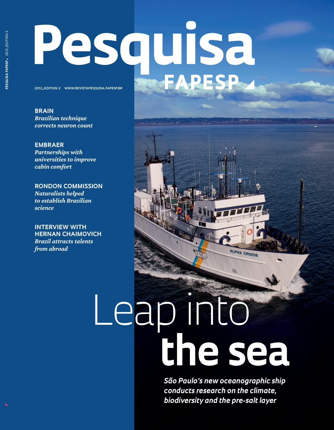 Leap into the sea by Pesquisa Fapesp - issuu