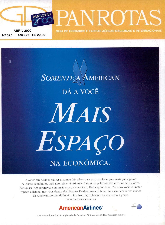 9846c01d73 Guia PANROTAS - Edição 325 - Abril 2000 by PANROTAS Editora - issuu
