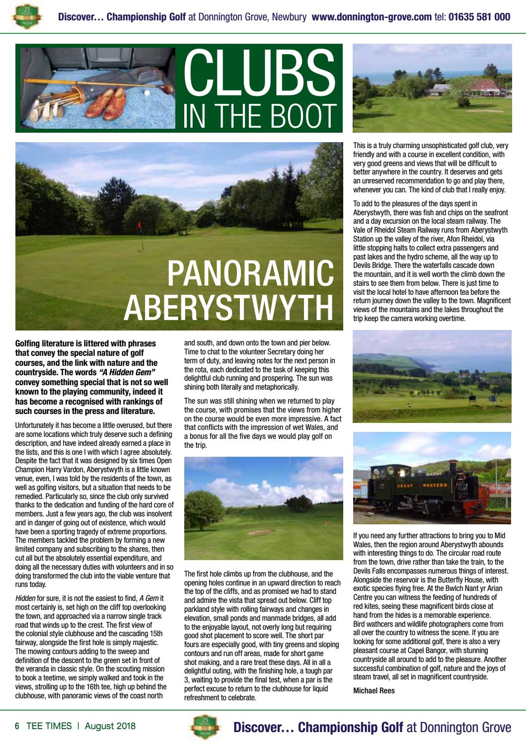 Tee Times Golf Magazine, August 2018 by Tee Times Golf