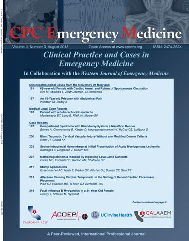 Clinical Practice And Cases In Emergency Medicine Volume 2 Issue 3