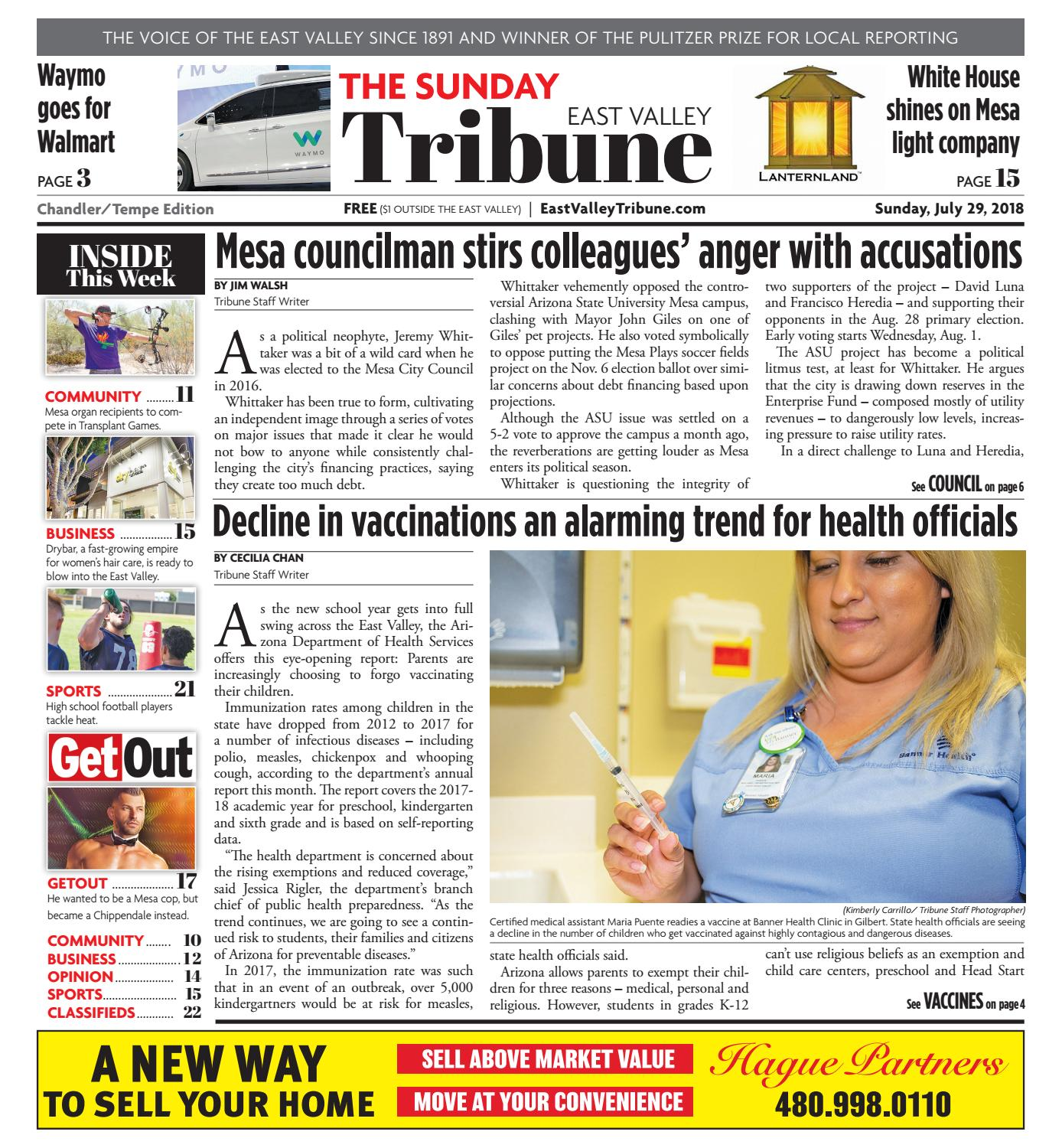 East Valley Tribune - Chandler/Tempe July 29, 2018 by Times Media ...