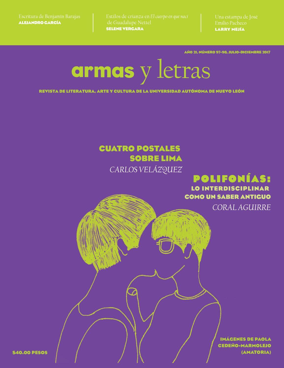 ba1c5f21ed64 Armas y Letras 97-98 by Revista Armas y Letras - issuu