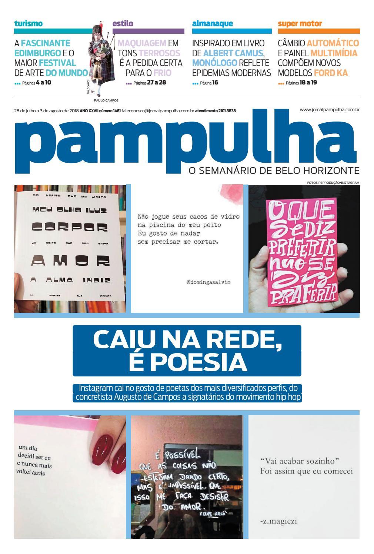 345256a2e40 Pampulha - 28 de julho a 3 de agosto de 2018 by Tecnologia Sempre Editora -  issuu