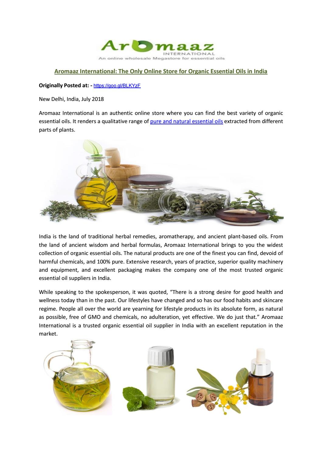 Aromaaz International: The Only Online Store for Organic