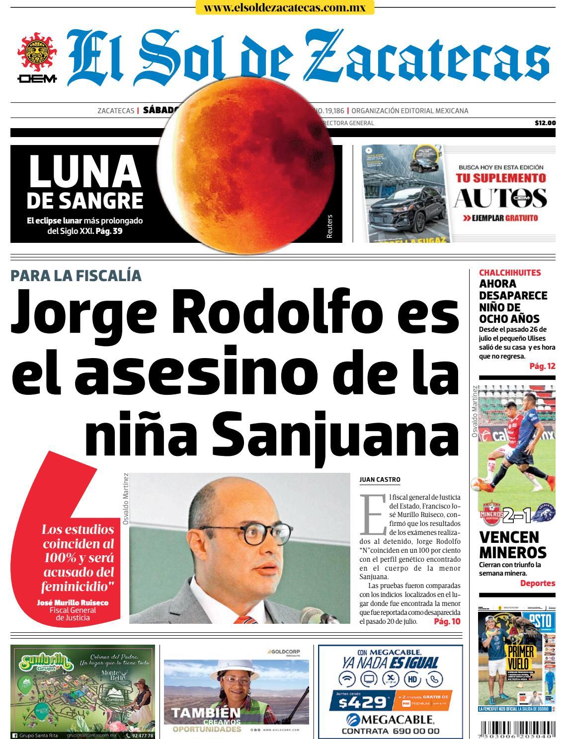 beda81a09f3 El Sol de Zacatecas 28 de julio 2018 by El Sol de Zacatecas - issuu