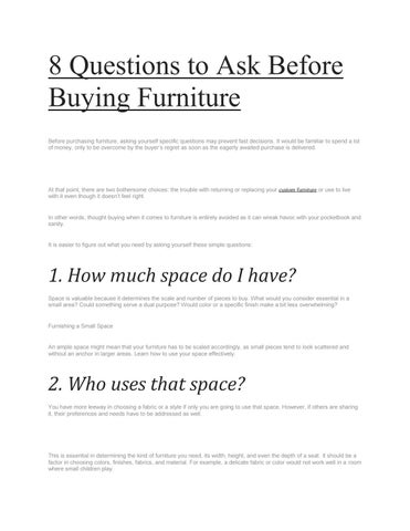 8 Questions To Ask Before Buying Furniture By Stewiemart Issuu - Questions-to-ask-before-buying-furniture