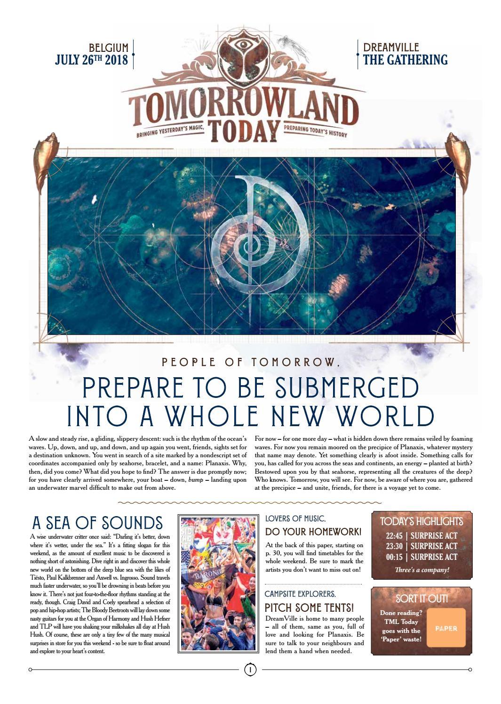 Tomorrowland T-Shirt-EDM-Dance Music-We Are One World-Belgique Techno
