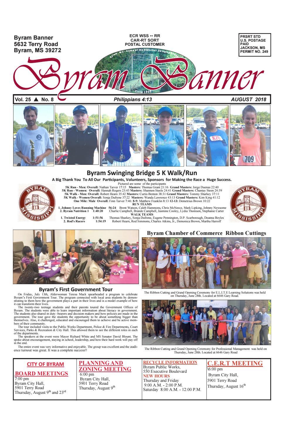 c61dcb15989114 Byram Banner August 2018 by Byram Banner - issuu