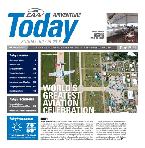 EAA AirVenture Today - Sunday, July 29, 2018 by EAA: Experimental