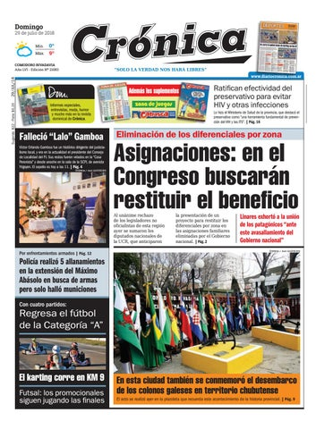 Diario cronica 29 07 2018 by Diario Crónica - issuu 3335c1bccae55