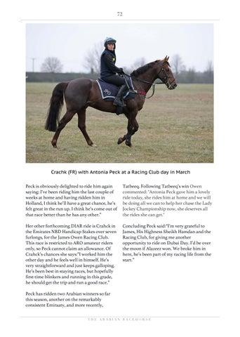 Page 72 of Dubai International Arabian Races - UK Stable Tours