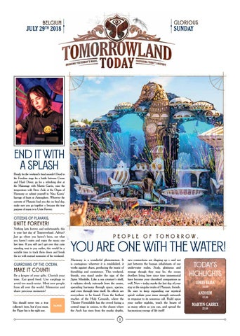 Tomorrowland Today, July 29 2018 by Tomorrowland - issuu