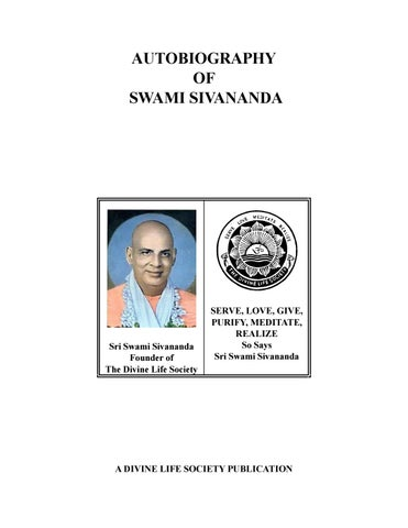 b4c1e456b00 Sri Swami Sivananda - Autobiography of Swami Sivananda by ...