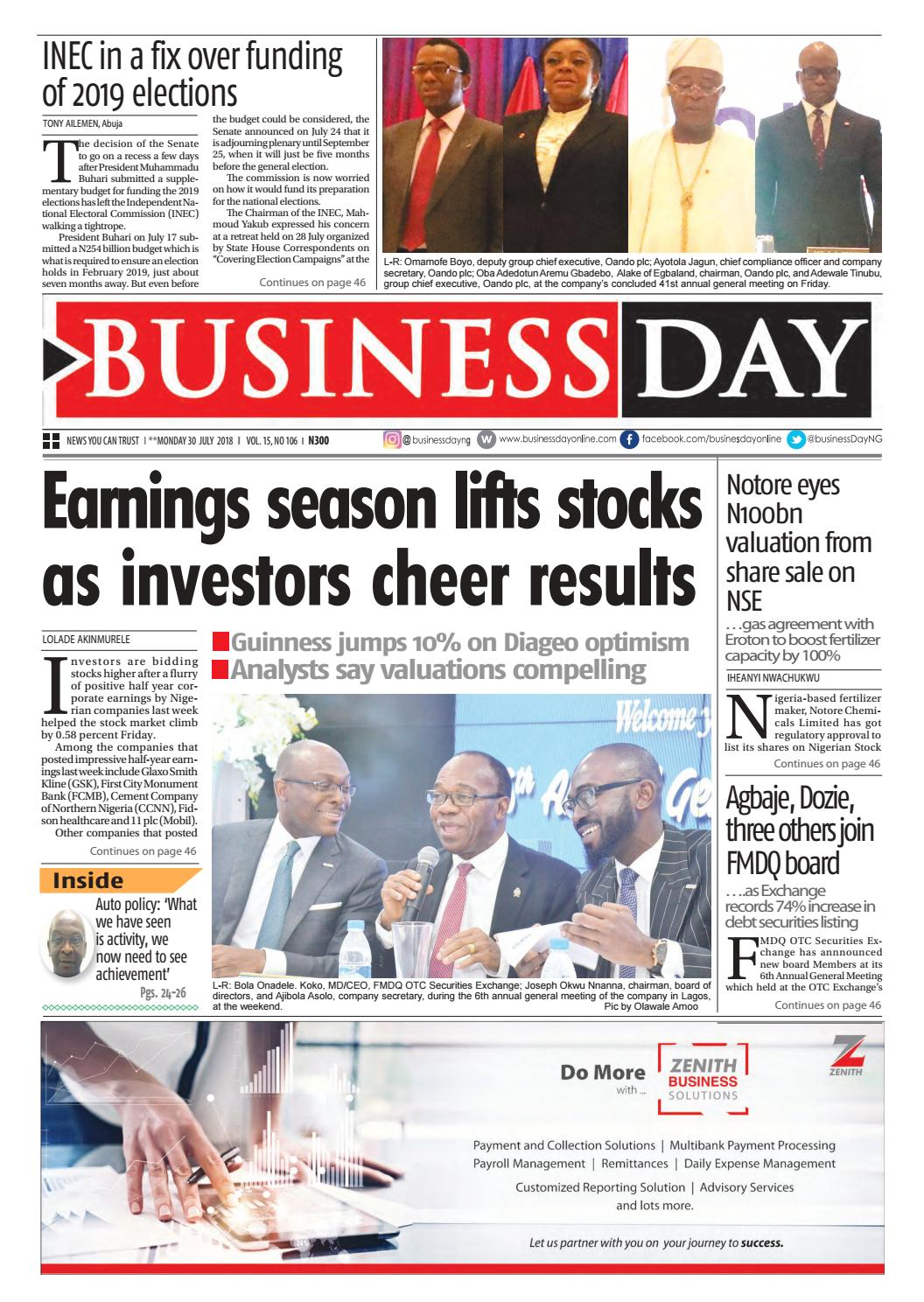 BusinessDay Jul 30 2018 by BusinessDay - issuu