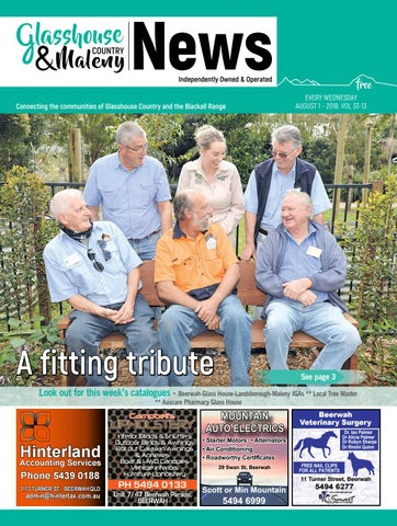 af04c95266a Edition 1 August 2018 by Glasshouse Country   Maleny News - issuu