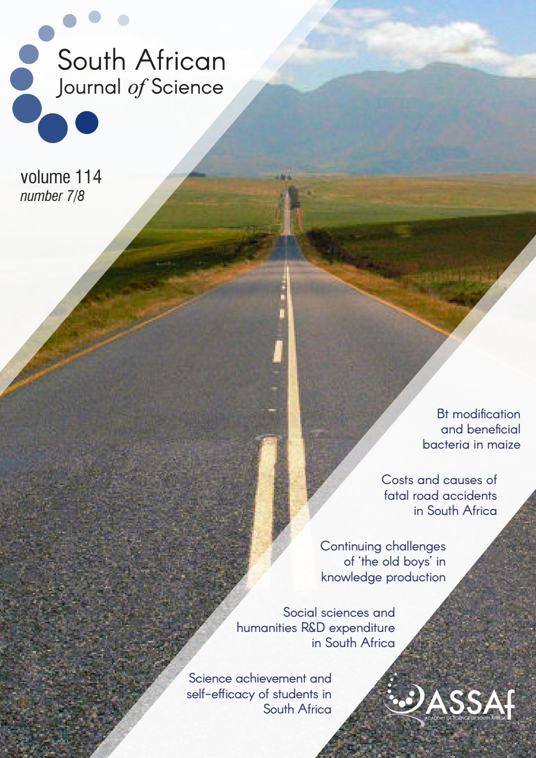 South African Journal of Science Volume 114 Issue 7/8 by