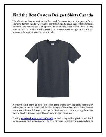dd9a0c28 Find the Best Custom Design t Shirts Canada by thatshirtseo - issuu