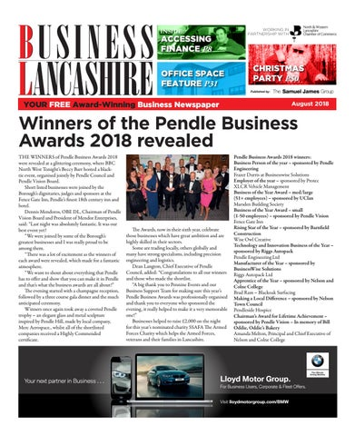 Business Lancashire - August 2018 by The Samuel James Group