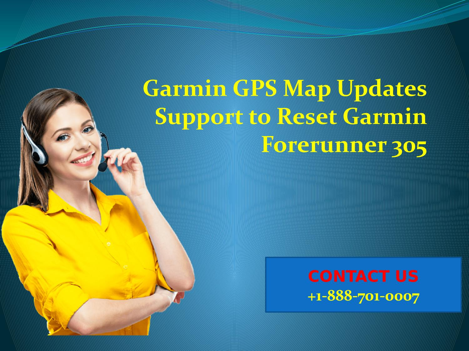 Garmin GPS map updates support to reset Garmin Forerunner