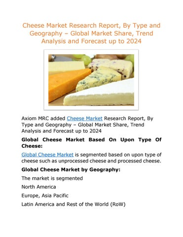 Useful asian cheese market