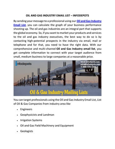 Oil and Gas Industry Email List | List of Oil & Gas Companies