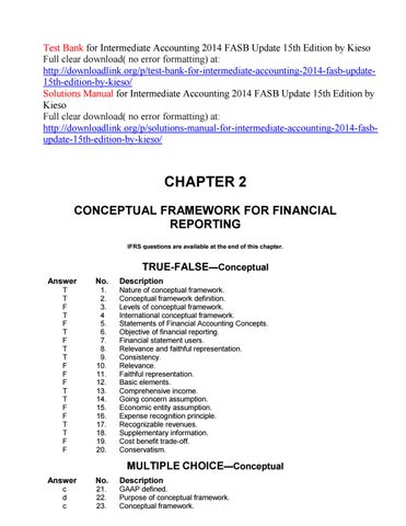 Test Bank For Intermediate Accounting 2014 Fasb Update 15th
