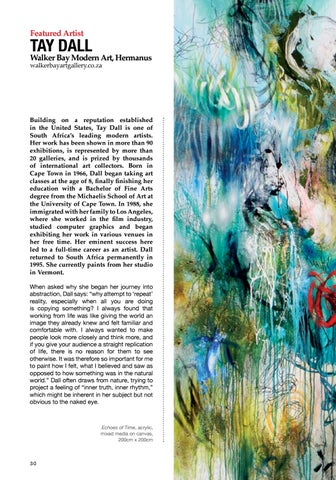 Page 30 of Featured Artist: Tay Dall, Walker Bay Modern Art, Hermanus