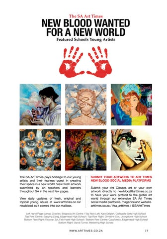 Page 77 of The SA Art Times New Blood Featured Schools Young Artists