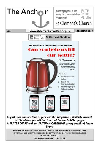 The Anchor - August 2018 by St Clement\'s Church Chorlton - issuu