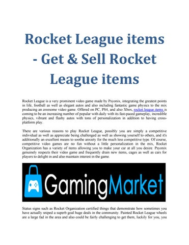 Gaming Market - Sell and Buy Gaming Goods Safely by Gaming