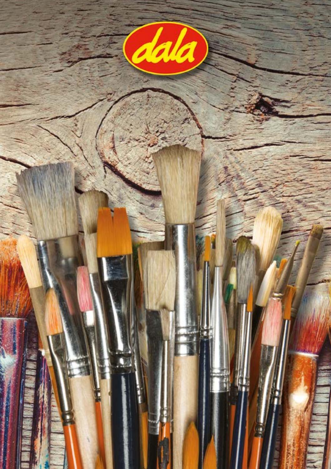 Eono EonoEssentials Foam Brush Set of 6 Stamp Painter,Sponges Brush Set for Kids Wood Handle