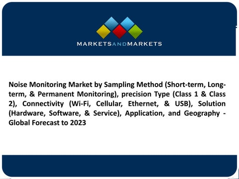 The noise monitoring market is expected to reach USD 806 5