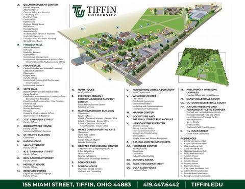 Tu Campus Map By Tiffin University Issuu