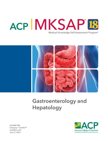 MKSAP 18 Sample Pages - Gastroenterology and Hepatology by