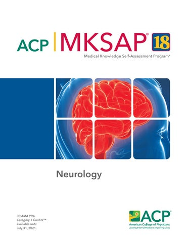 MKSAP 18 Sample Pages - Neurology by American College of Physicians