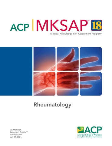 MKSAP 18 Sample Pages - Rheumatology by American College of
