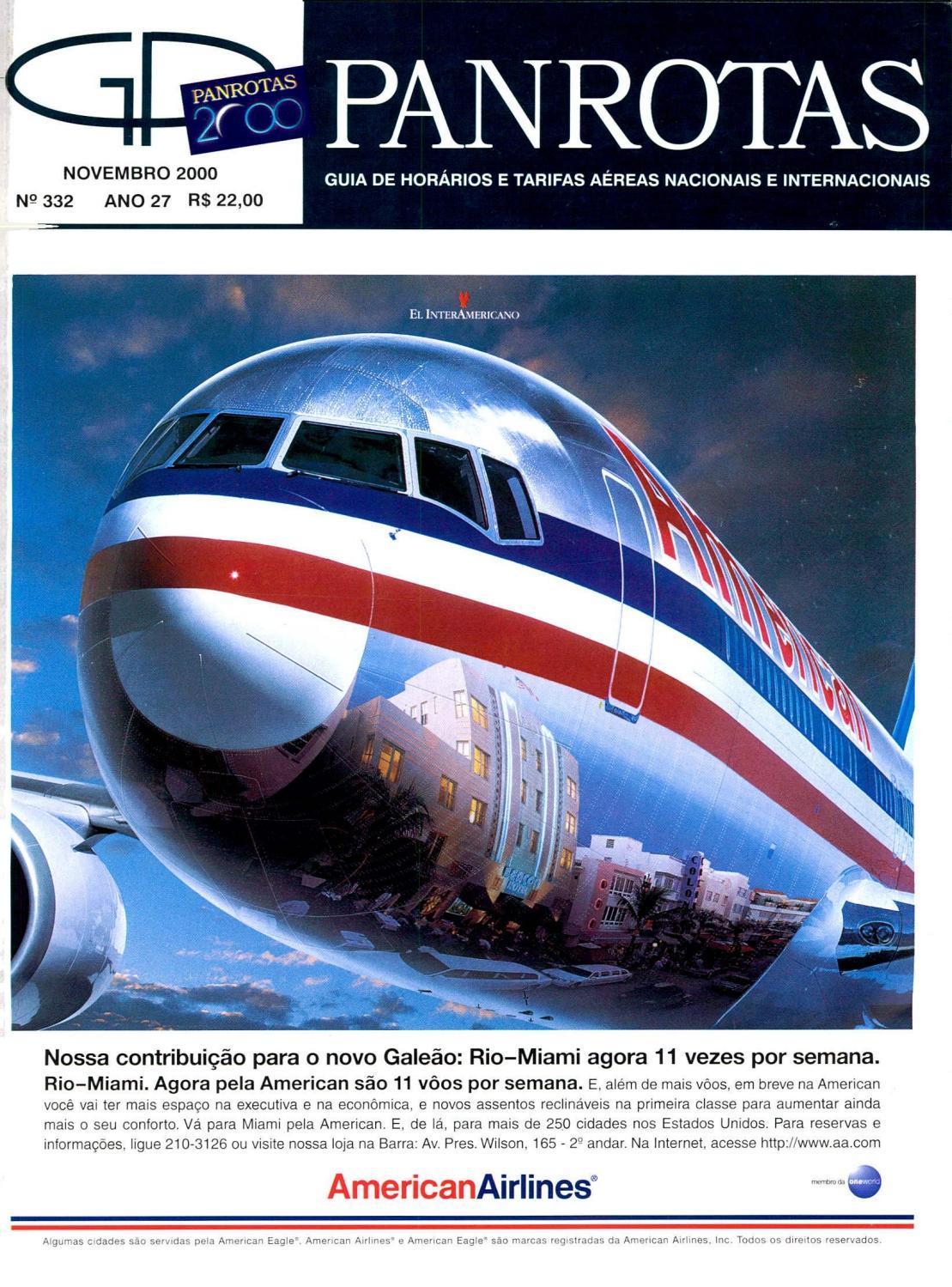 31c2cb22d Guia PANOTAS - Edição 332 - Novembro 2000 by PANROTAS Editora - issuu