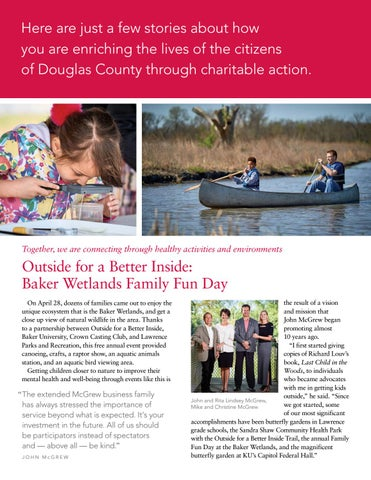 Page 2 of Outside for a Better Inside: Baker Wetlands Family Fun Day