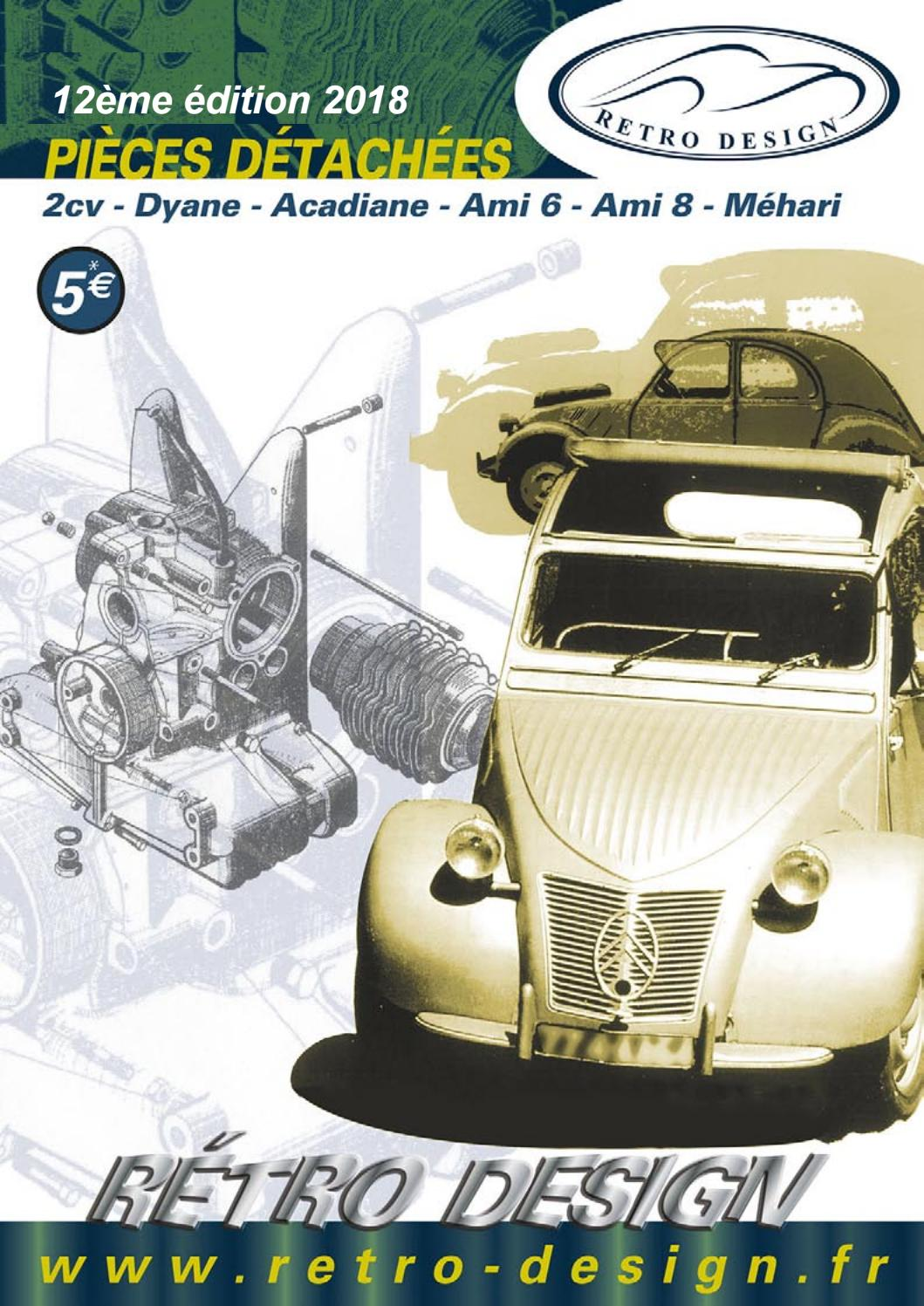 catalogue of 2cv and derivates spare parts by retro design