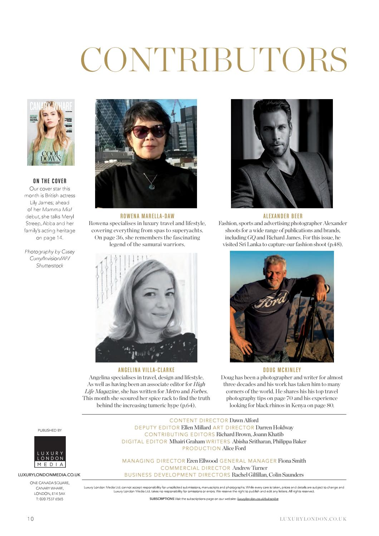 Canary Wharf Magazine August 2018 by Luxury London Media - issuu