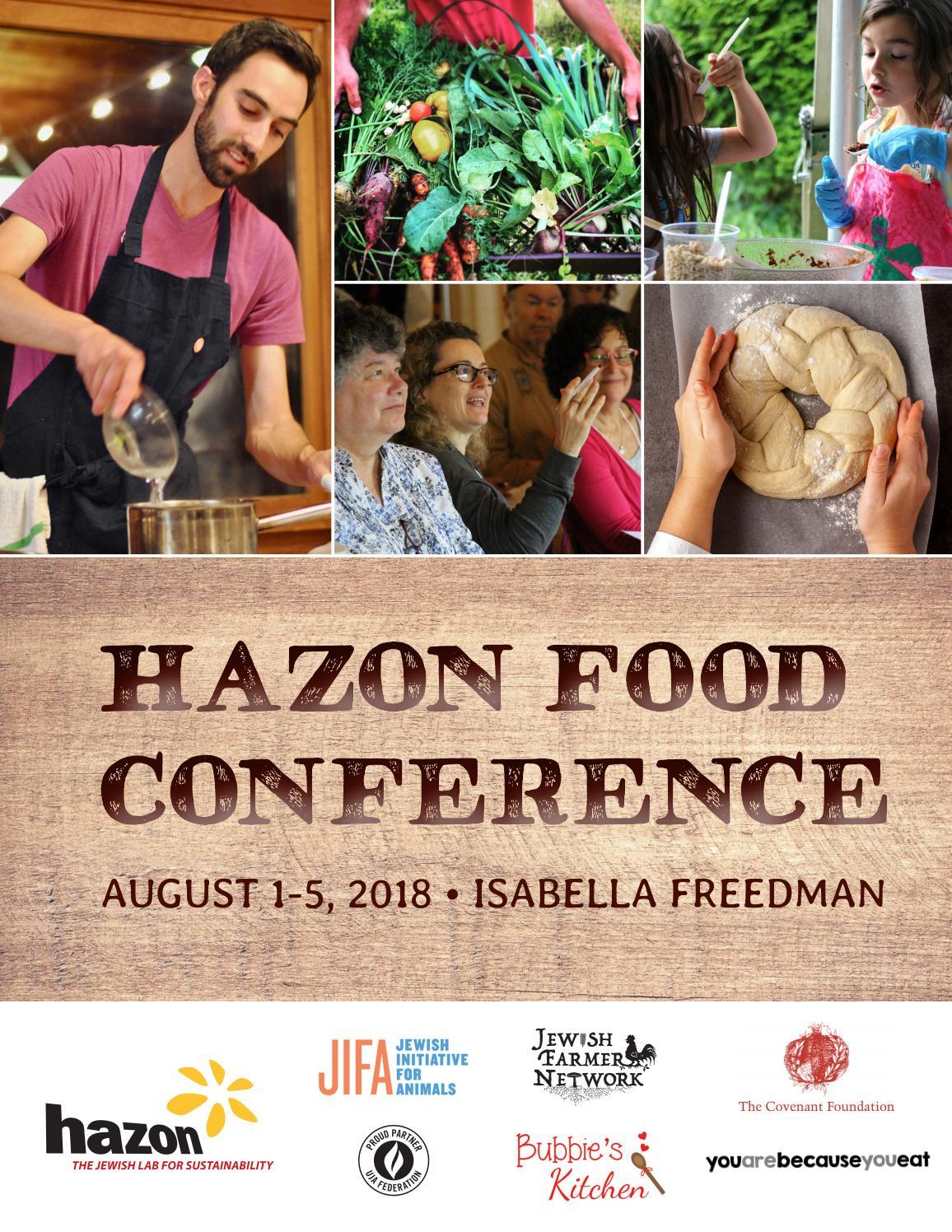 Hazon Food Conference 2018 Program Book by Hazon - issuu